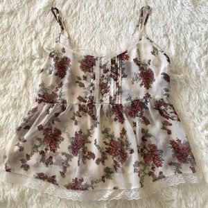 Lottie and Holly Floral Cami Size XL